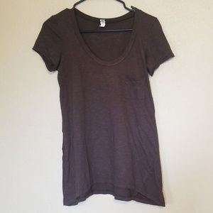 BKE Scoop Neck Burnout Tee